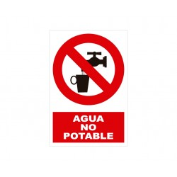 AGUA NO POTABLE CON ROTULO