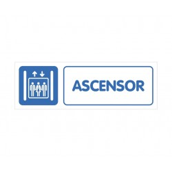 ASCENSOR CON ROTULO