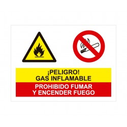 GAS INFLAMABLE PROHIBIDO...